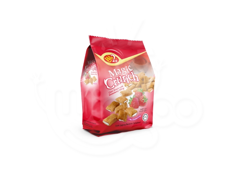 Magic Crunch Corn Snack with Strawberry Filling 70g