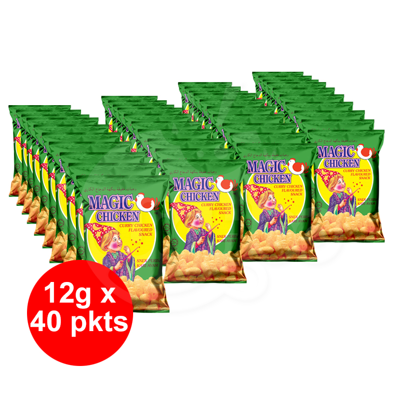 Magic Chicken Curry Chicken Flavoured Snack 12g x 40 pkts